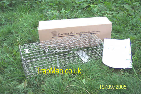 One trap man squirrel trap box and setting instructions